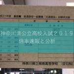 速報と分析 2019神奈川県公立高校入試倍率(1月30日時点)